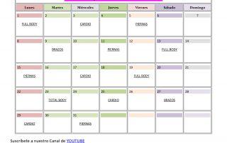 calendario ejercicios embarazada mes 4